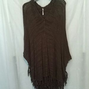 Free People Olive/Army Green Poncho